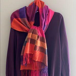 Purple Plaid Blanket Scarf